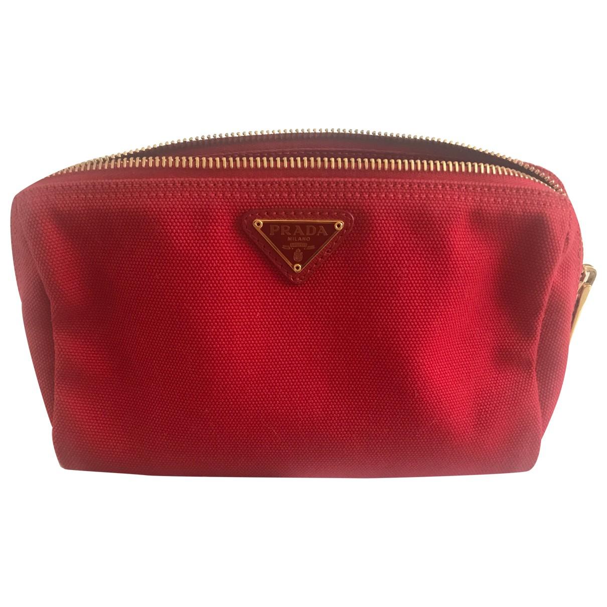 Prada - Pochette Tessuto  pour femme en coton - rouge
