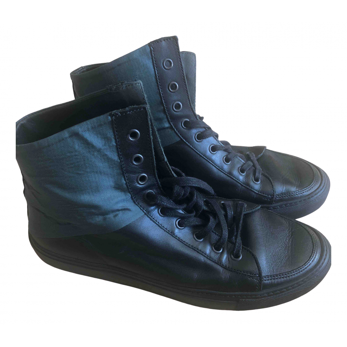 Damir Doma \N Sneakers in  Schwarz Leder