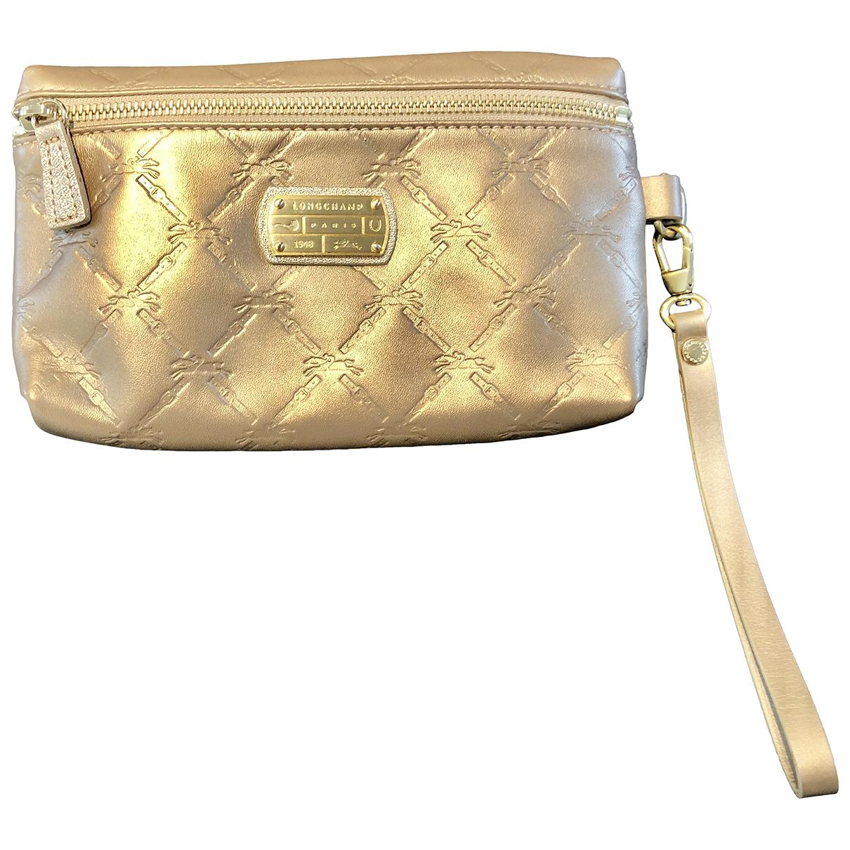 Longchamp \N Clutch in  Beige Leder