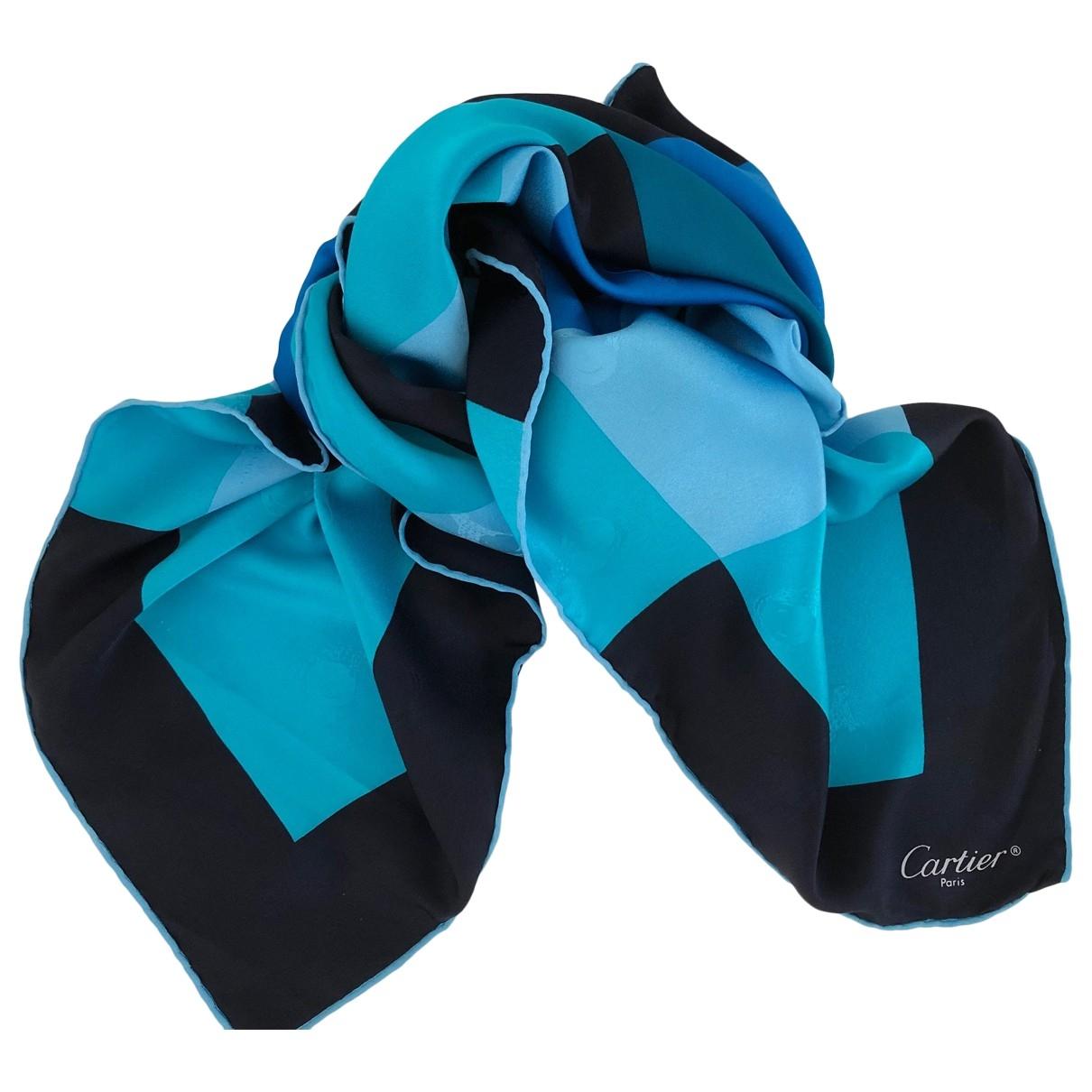 Cartier \N Blue Silk scarf for Women \N