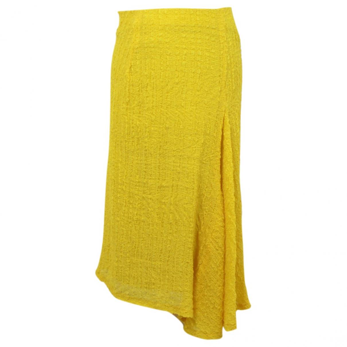 Victoria Beckham \N Rocke in  Gelb Seide