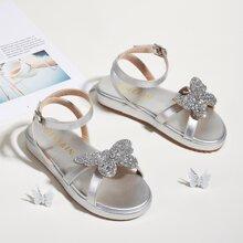 Kleinkind Maedchen Sandalen mit Pailletten und Schmetterling Dekor