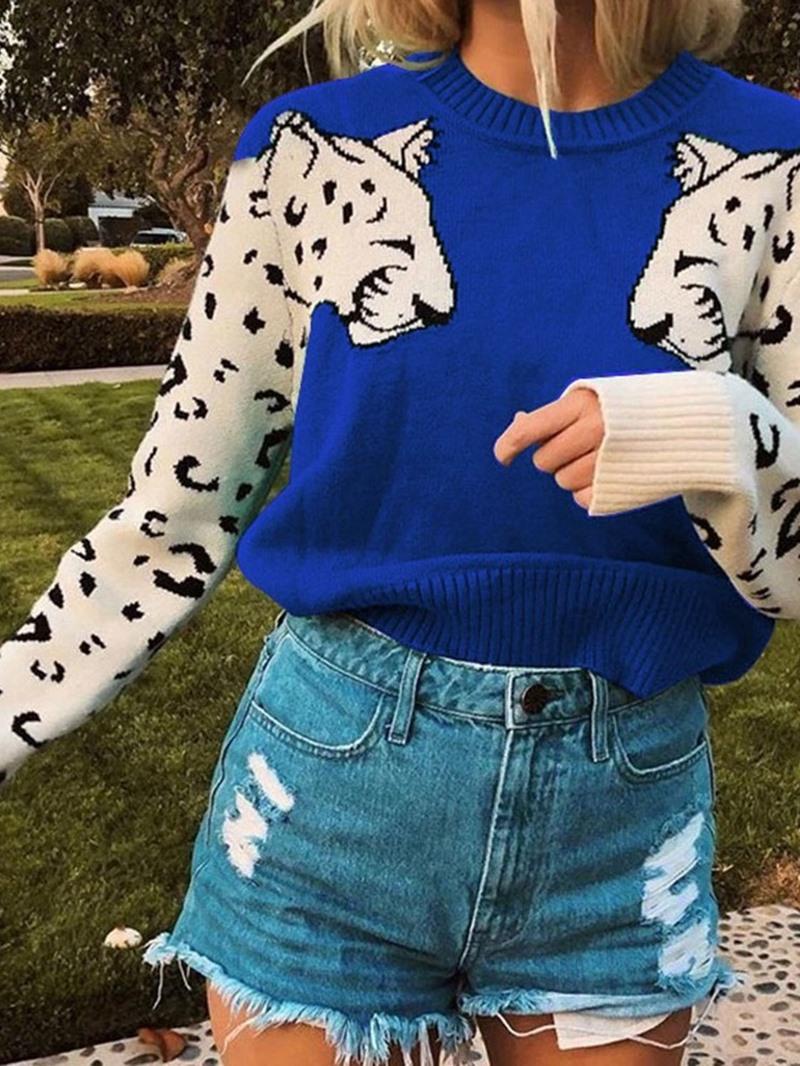 Ericdress Regular Standard Round Neck Long Sleeve Sweater