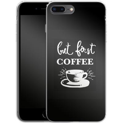 Apple iPhone 8 Plus Silikon Handyhuelle - Coffee First von Mukta Lata Barua
