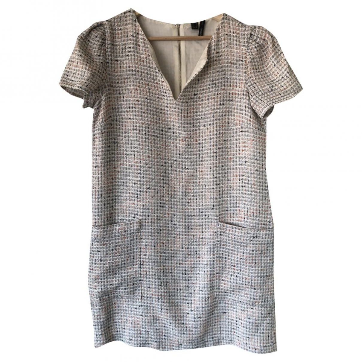 Mango \N Kleid in  Weiss Tweed