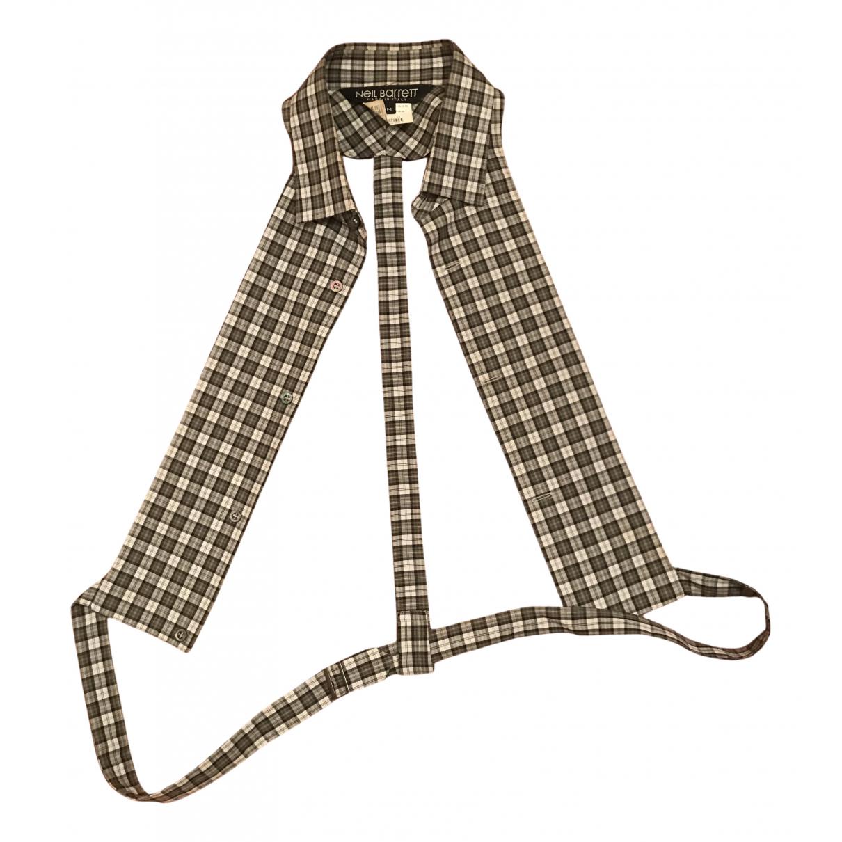 Neil Barrett N Grey Cotton Knitwear for Women M International
