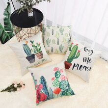 Cactus Print Cushion Cover 1pc