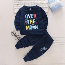 Toddler Boys Cartoon Graphic Sweatshirt & Sweatpants