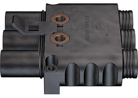 Staubli Circular Connector, 3 contacts Cable Mount Socket, Crimp
