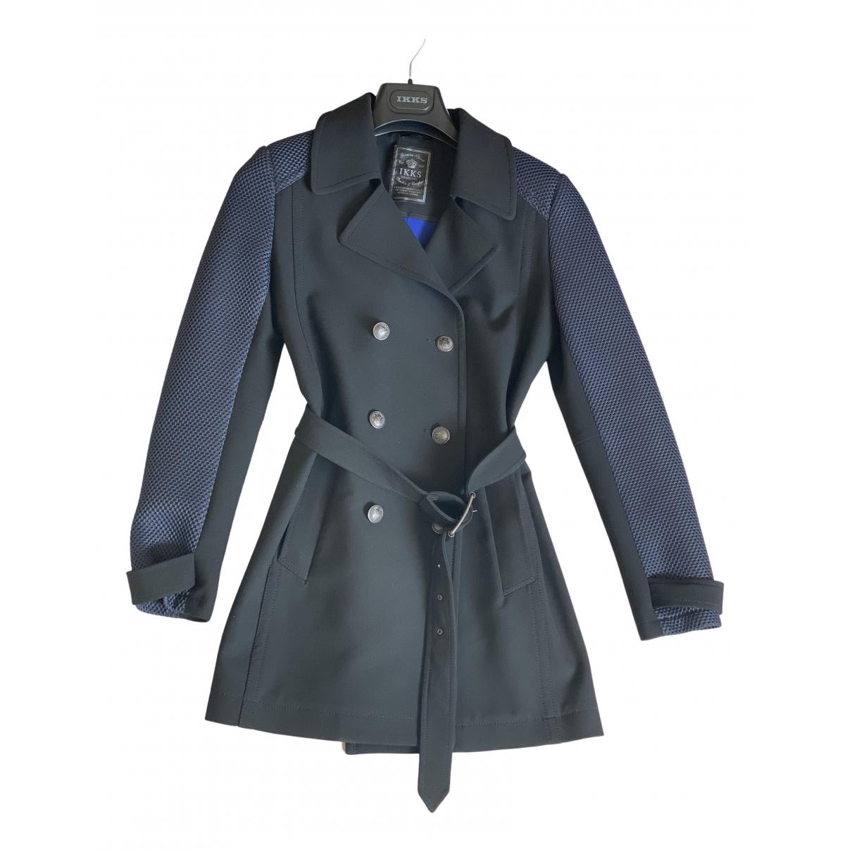 Ikks \N Black Trench coat for Women 40 FR