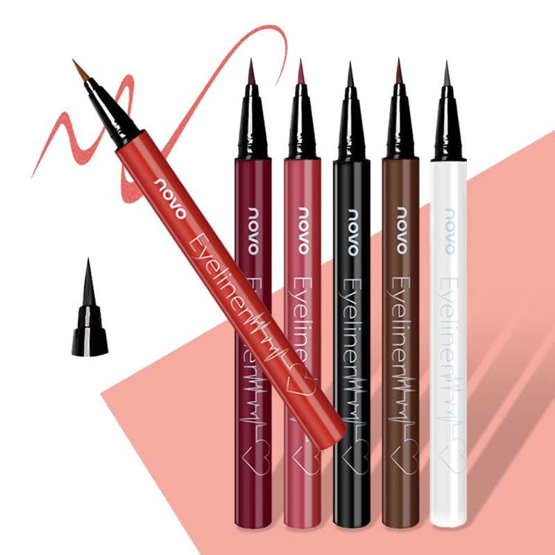 Colorful Liquid Eyeliner Pen Waterproof Long-Lasting Eyeliner Pencil Wine Red Eyeliner Eye Makeup