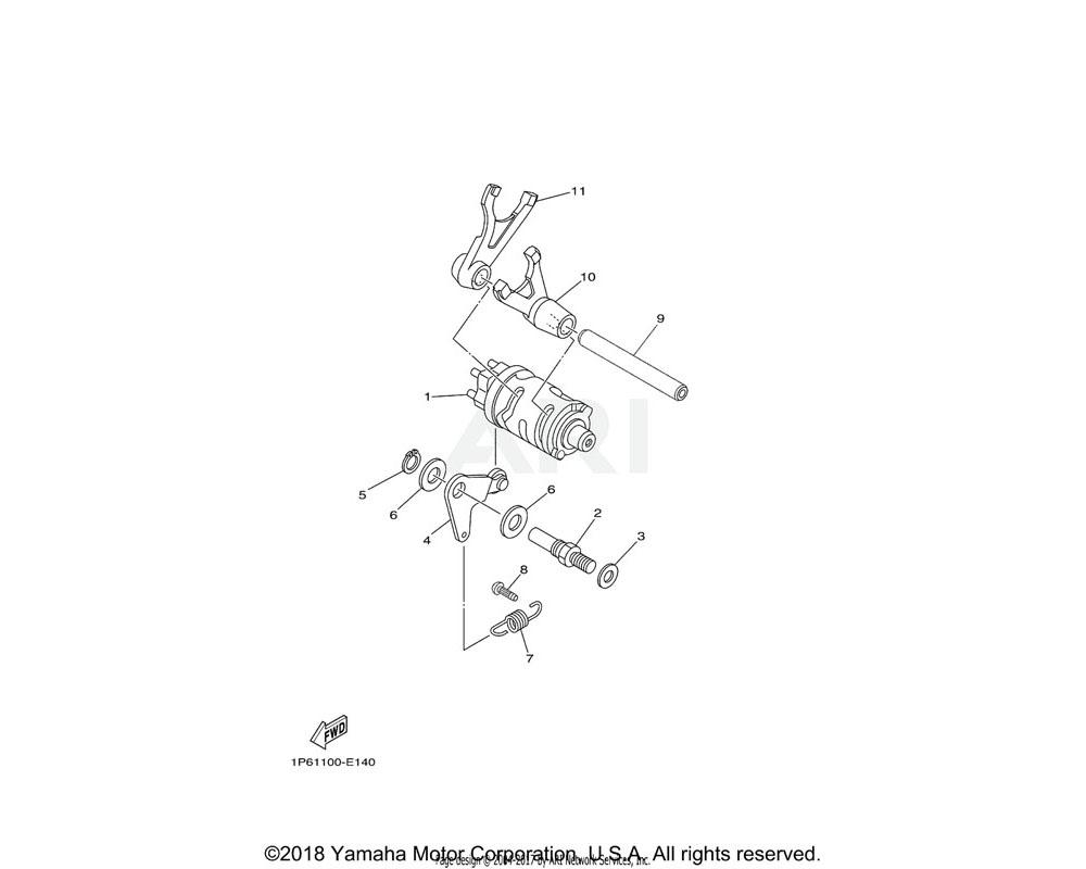 Yamaha OEM 1P6-E8140-00-00 STOPPER LEVER ASSY