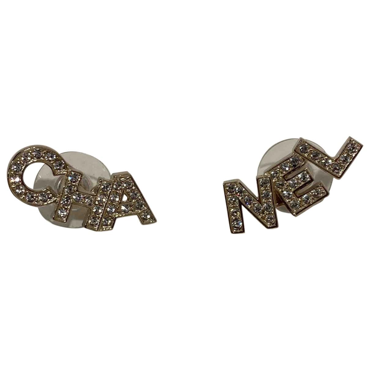 Chanel - Boucles doreilles CHANEL pour femme en metal - argente