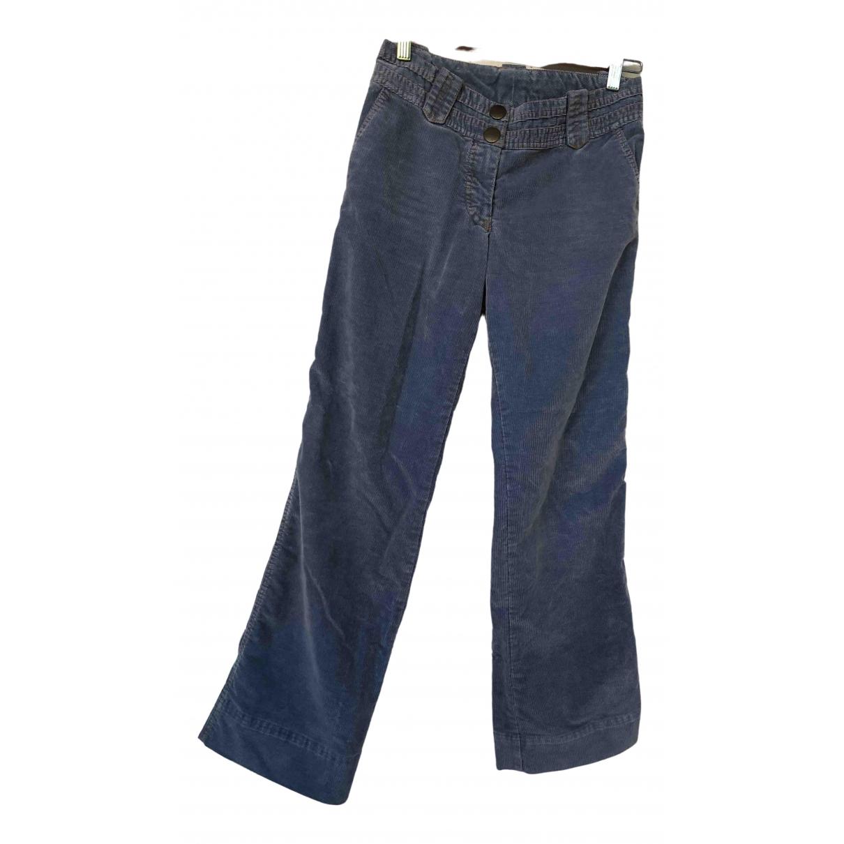 Weber \N Blue Cotton Trousers for Women 34 FR