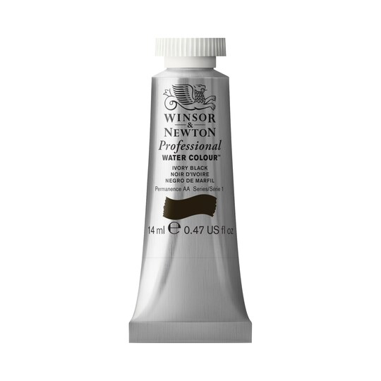 Winsor & Newton® Professional Water Colour™ Paint Tube, 14 ml in Ivory Black | Michaels®