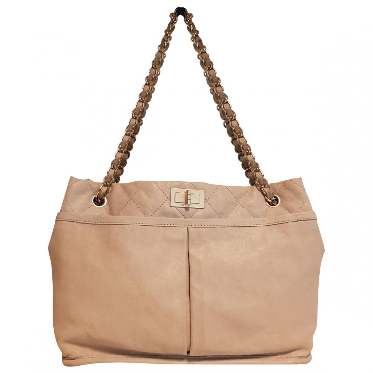 Chanel 2.55 Beige Leather handbag for Women \N