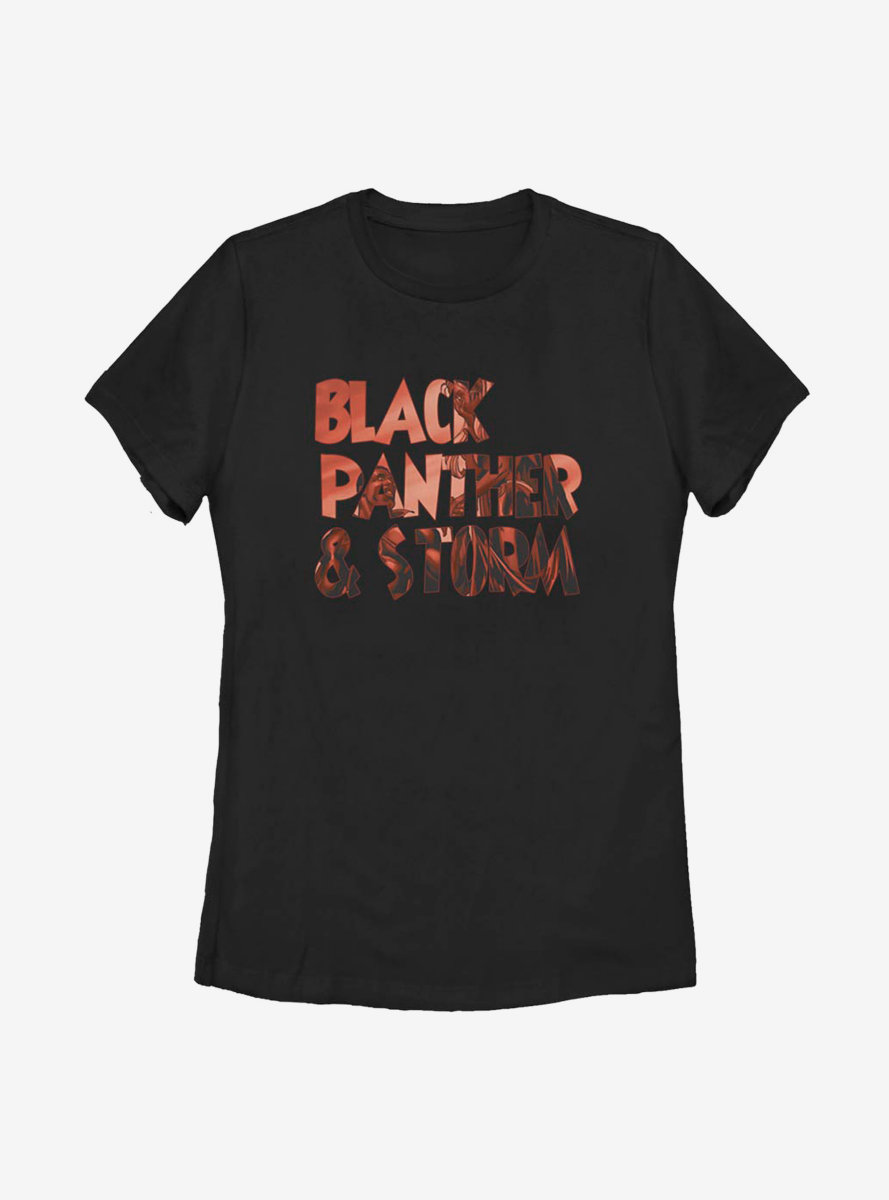 Marvel Black Panther Text Fill Womens T-Shirt