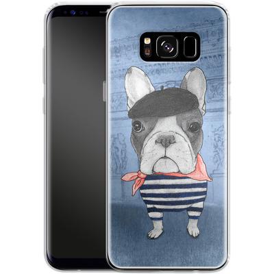Samsung Galaxy S8 Silikon Handyhuelle - French Bulldog with Arc de Triomphe von Barruf