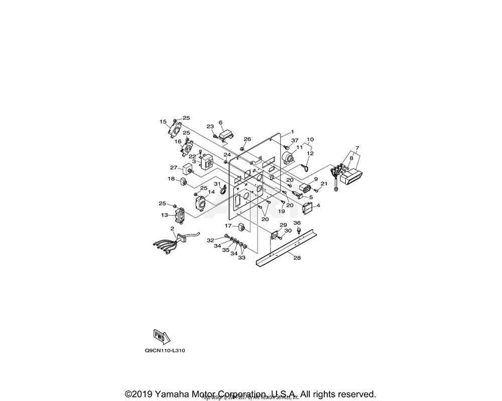 Yamaha OEM YF1-88130-43-90 SCREW (EDL6500)