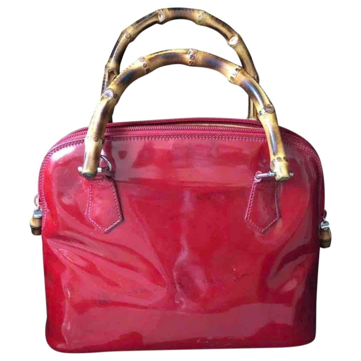 Gucci Bamboo Red Patent leather handbag for Women \N
