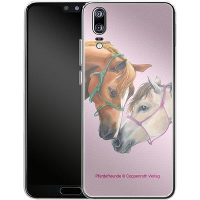 Huawei P20 Silikon Handyhuelle - Pferdefreunde Freundschaft von Pferdefreunde