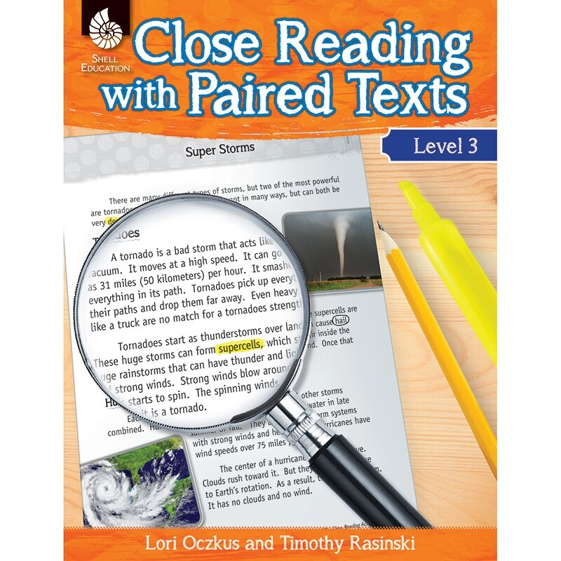 Shell education level 3 close reading with paired 51359