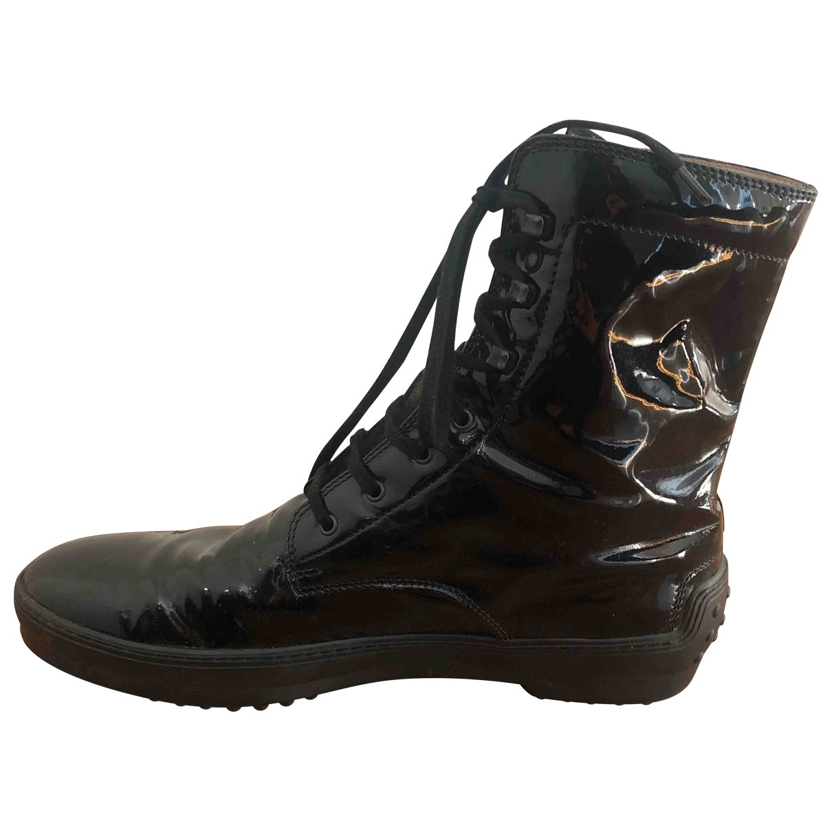 Tod's \N Black Patent leather Ankle boots for Women 40 EU