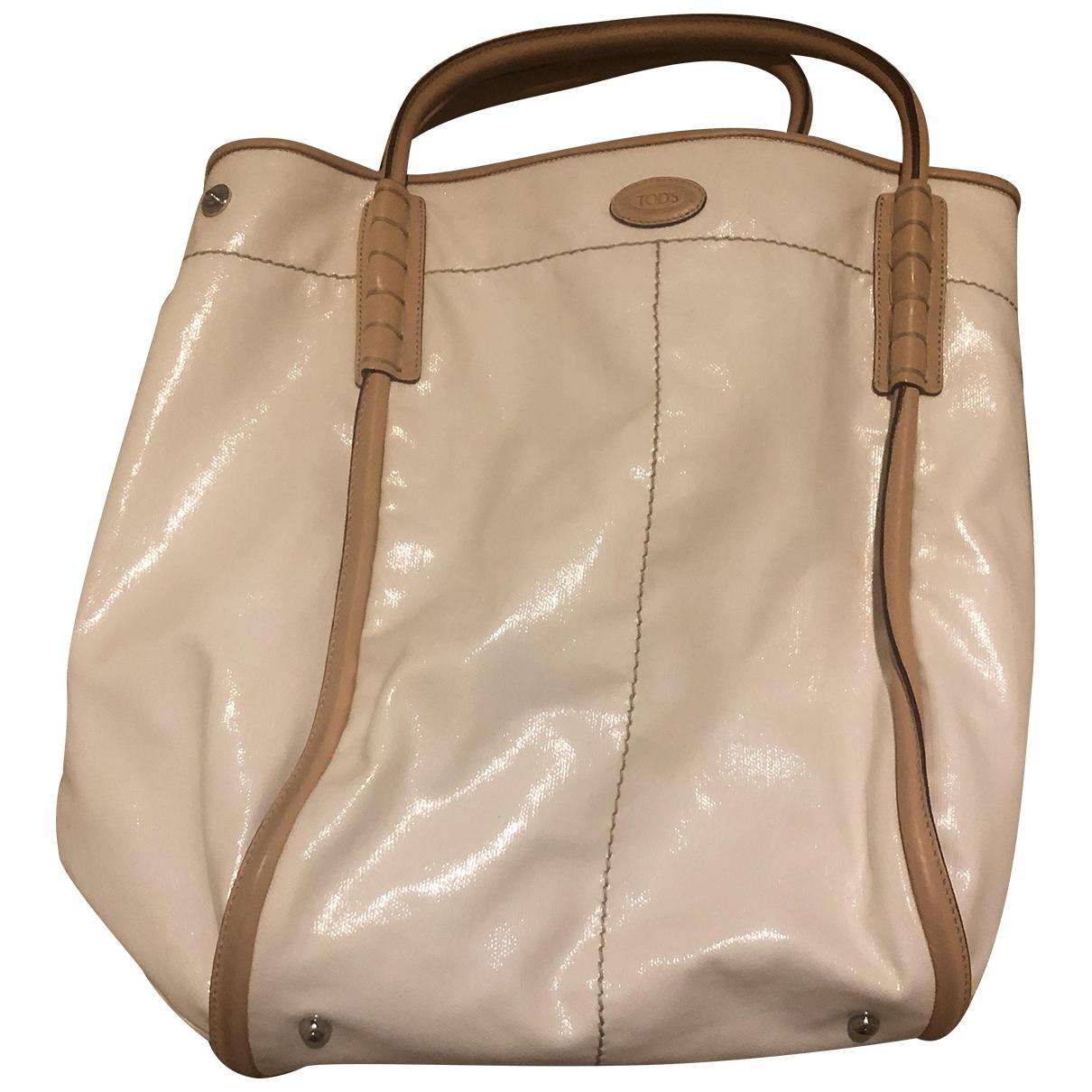 Tod's \N White Patent leather handbag for Women \N