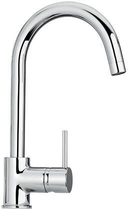 25572-72 Single Hole Kitchen Faucet with Goose Neck Spout  Designer Polished Brass