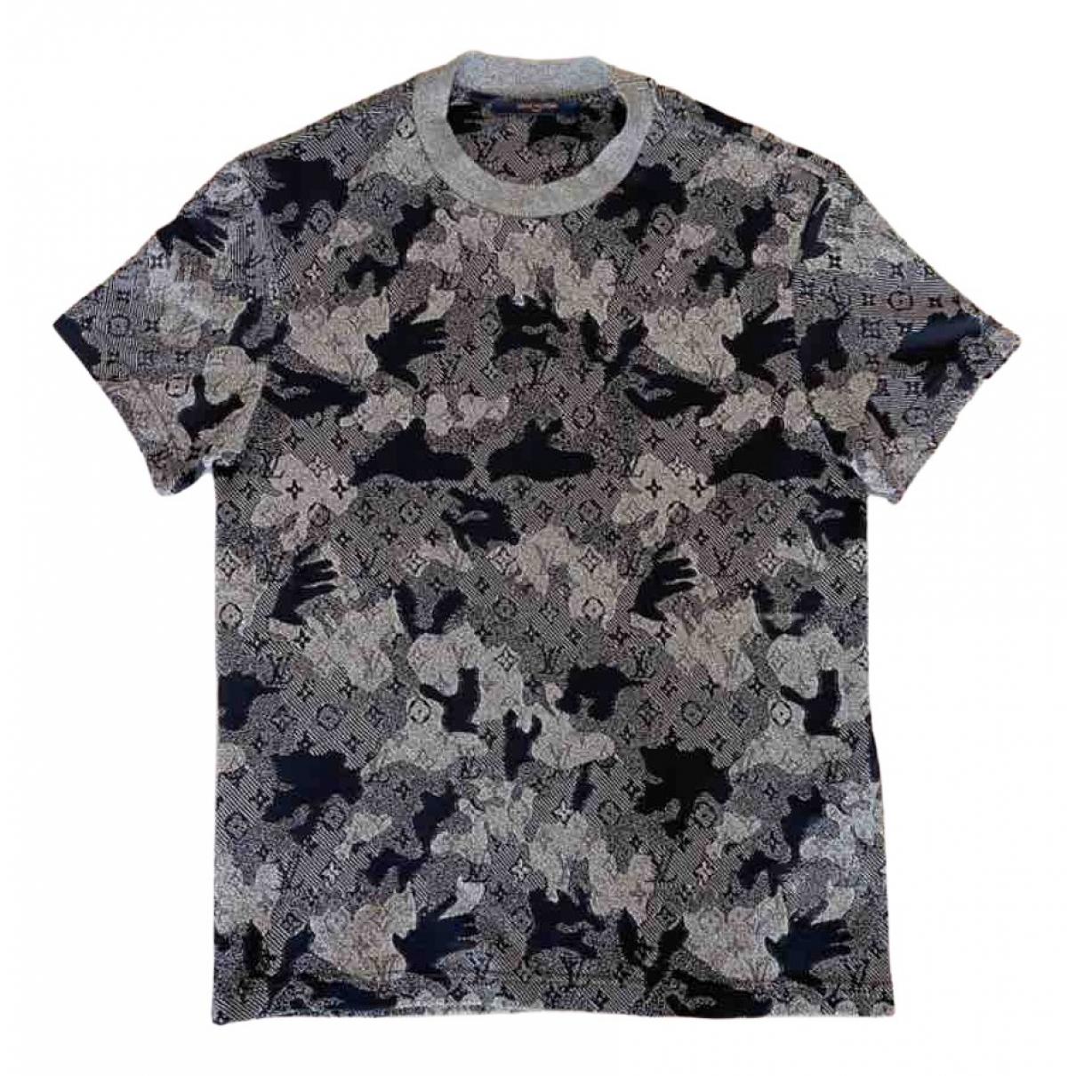 Louis Vuitton \N Grey Cotton T-shirts for Men XS International