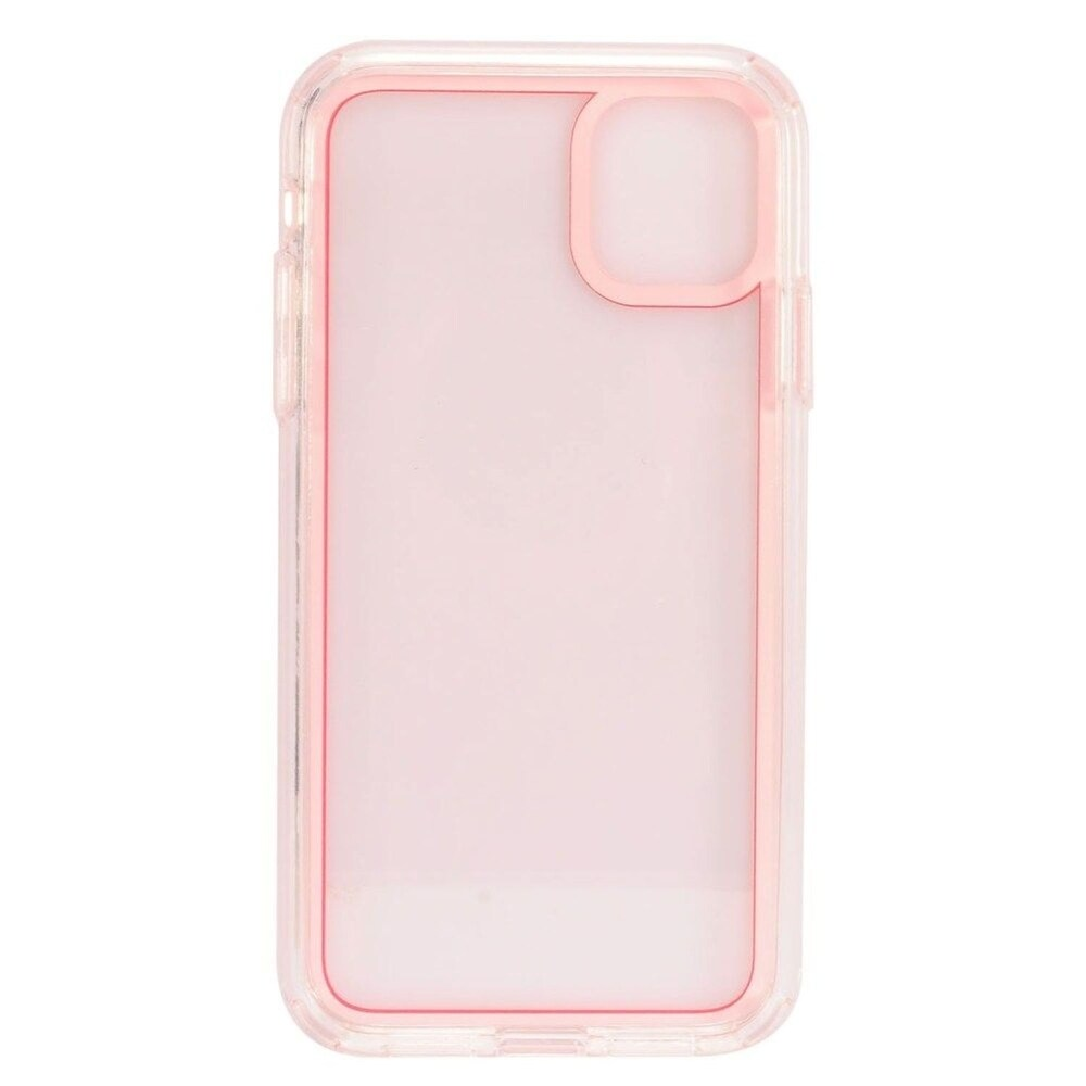 Insten Bumper Acrylic Transparent Plastic TPU Cover Case For Apple iPhone 11 - Red (Red)