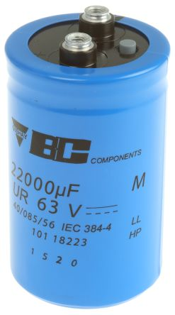 Vishay 22000μF Electrolytic Capacitor 63V dc, Screw Mount - MAL210118223E3