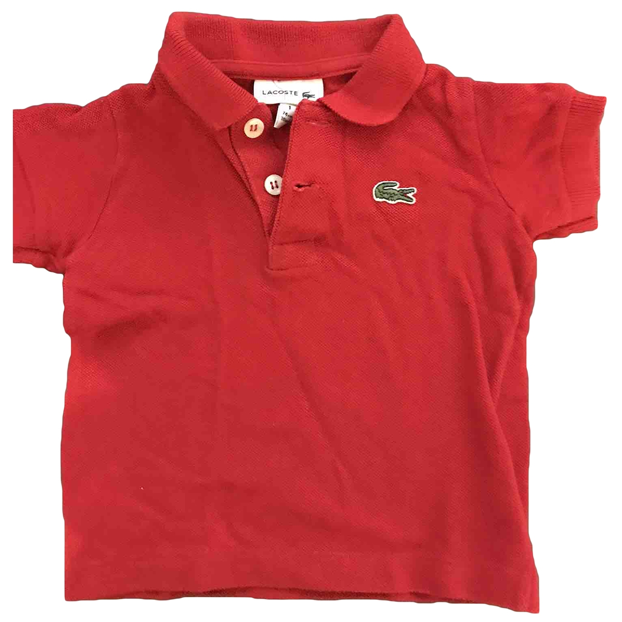 Lacoste \N Red Cotton  top for Kids 12 months - up to 74cm FR