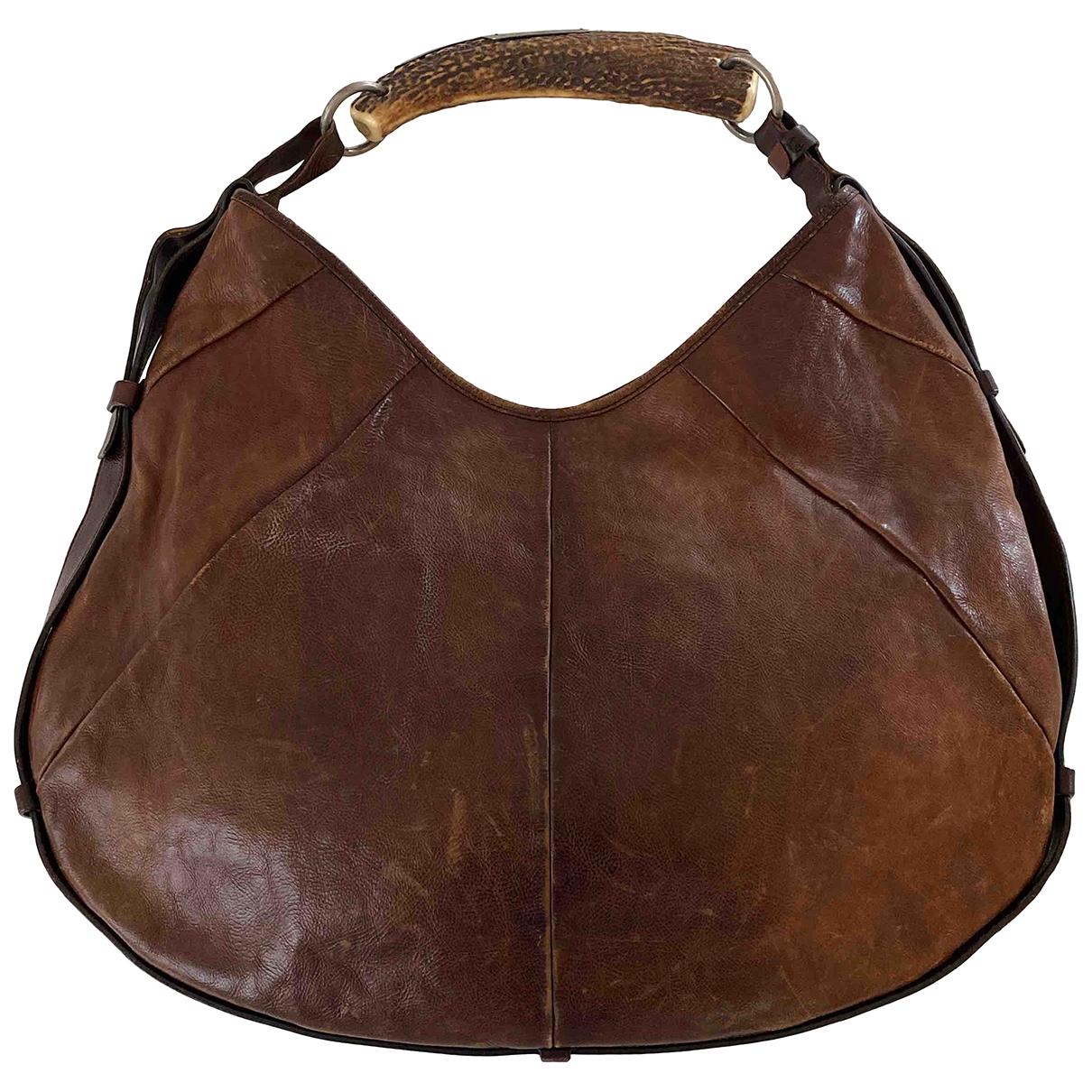 Yves Saint Laurent Mombasa Brown Leather handbag for Women \N