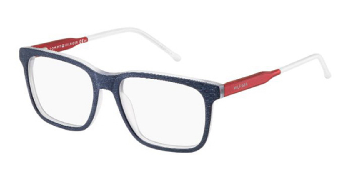 Tommy Hilfiger TH 1392 QRE Men's Glasses Blue Size 52 - Free Lenses - HSA/FSA Insurance - Blue Light Block Available