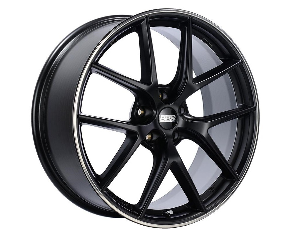 BBS CI-R Wheel 19x10.5 5x112 Black Center w/ Polished Rim Protector