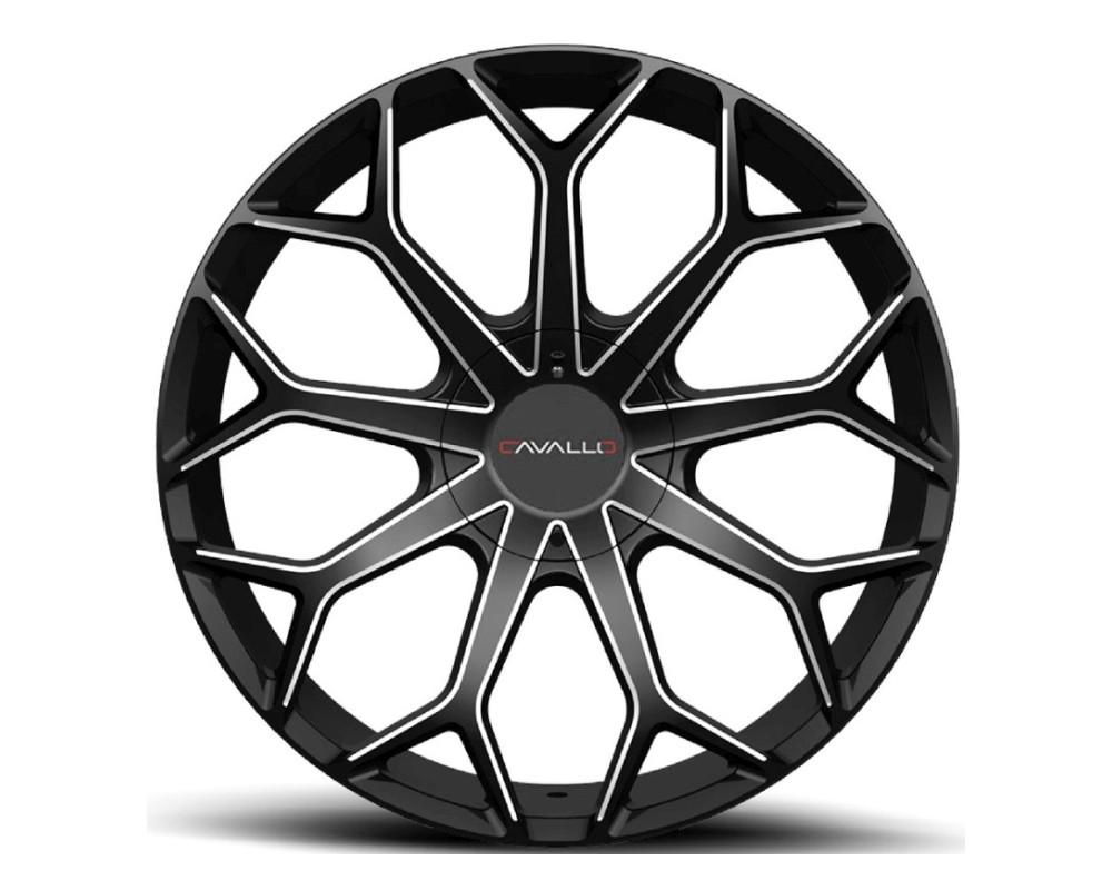 Cavallo CLV-22 Wheel 22x9.5 5x115 5x120 15mm Gloss Black Milled