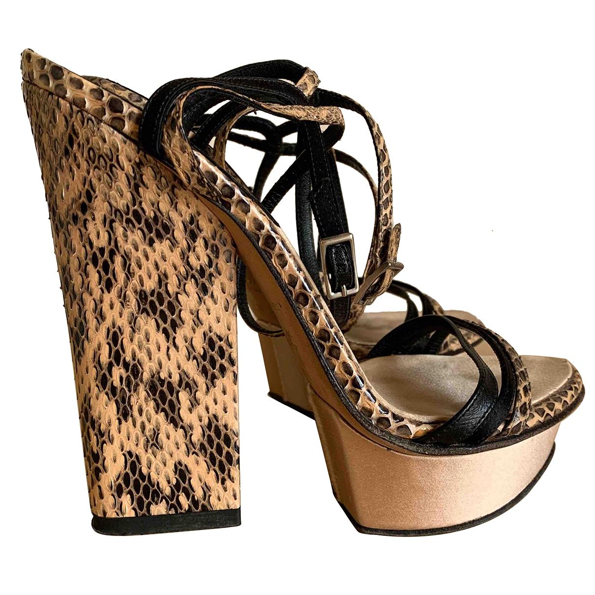 Dsquared2 - Sandales   pour femme en serpent deau - beige