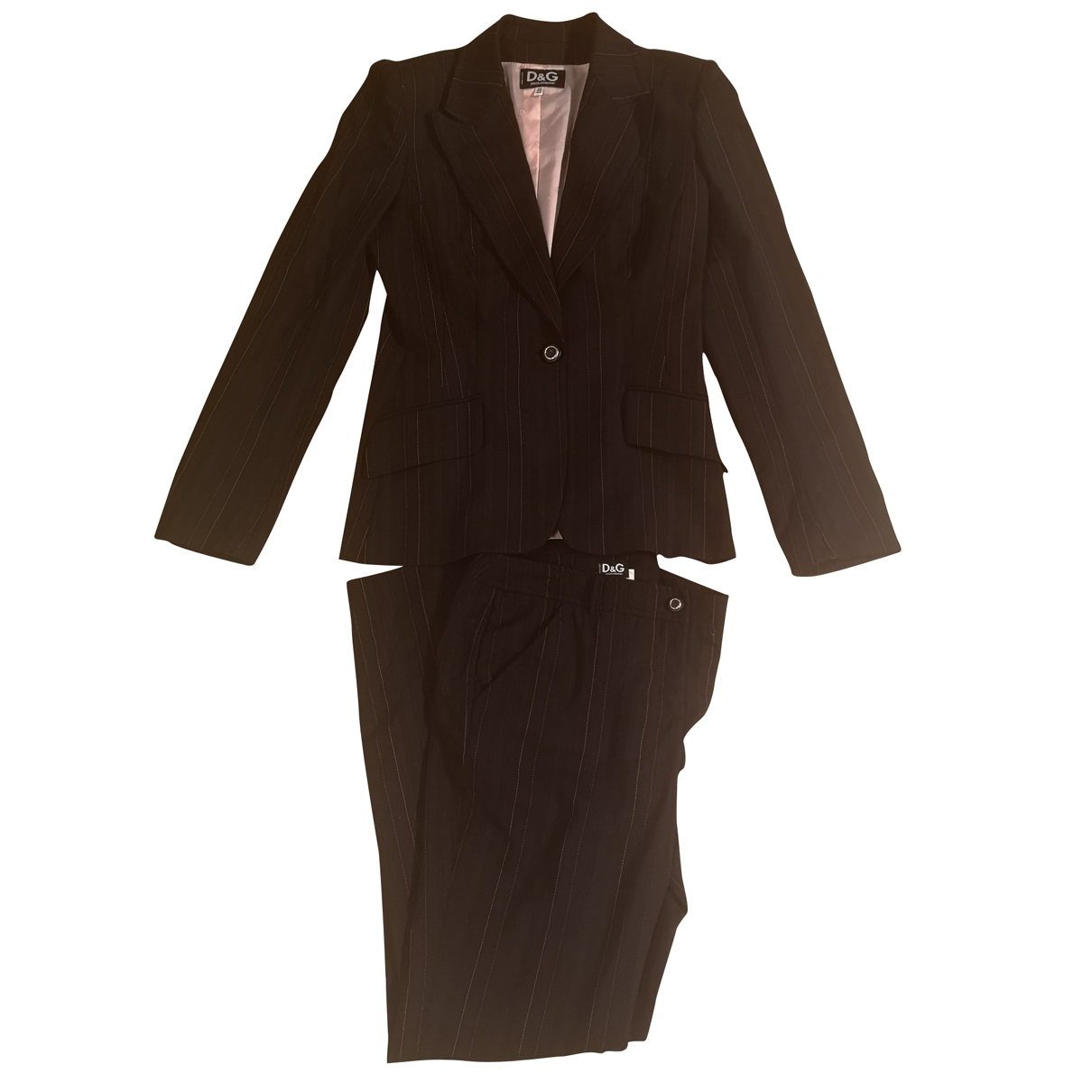 D&g \N Black Wool dress for Women 44 IT