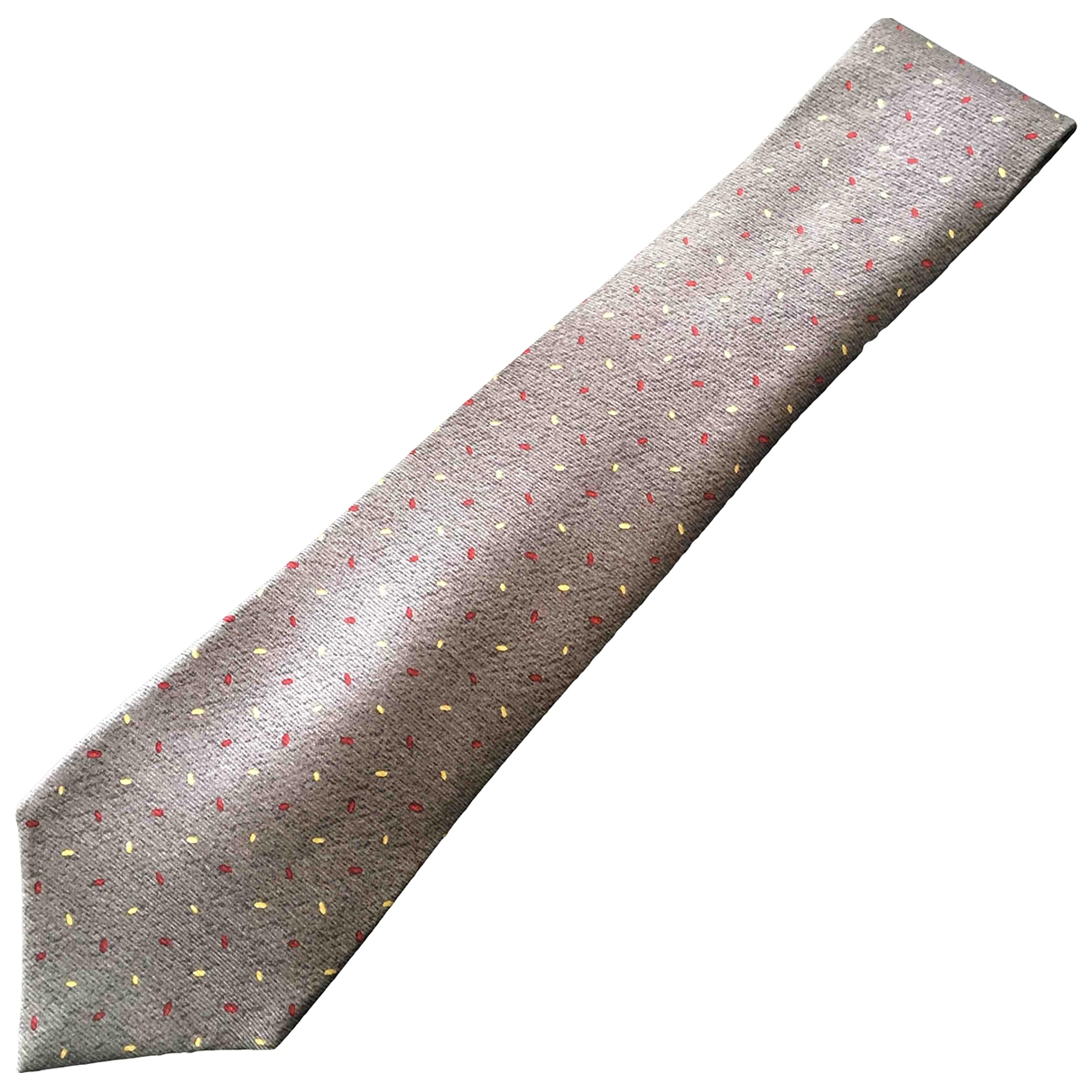 Bvlgari \N Grey Silk Ties for Men \N