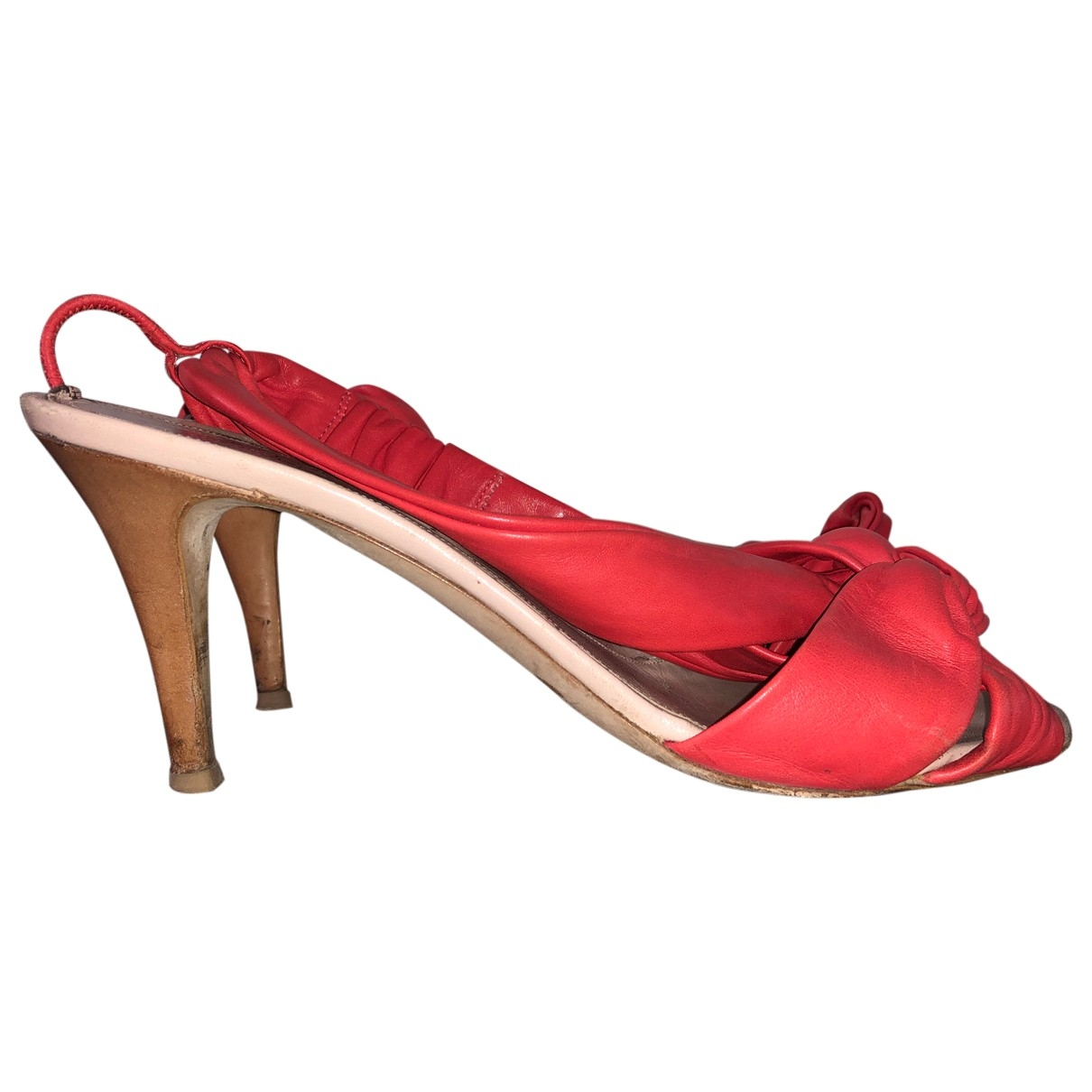 Sergio Rossi \N Red Leather Sandals for Women 39.5 EU