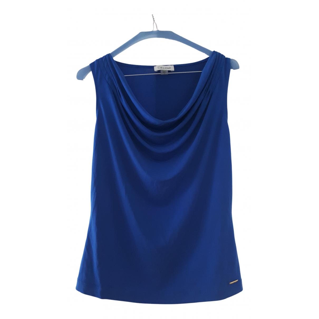 Calvin Klein - Top   pour femme - bleu