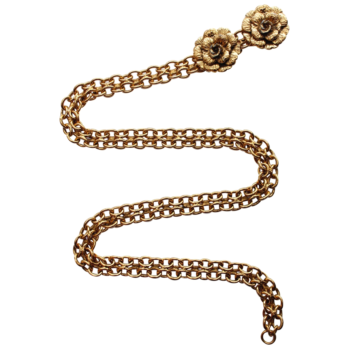 Chanel \N Gold Metal belt for Women 70 cm