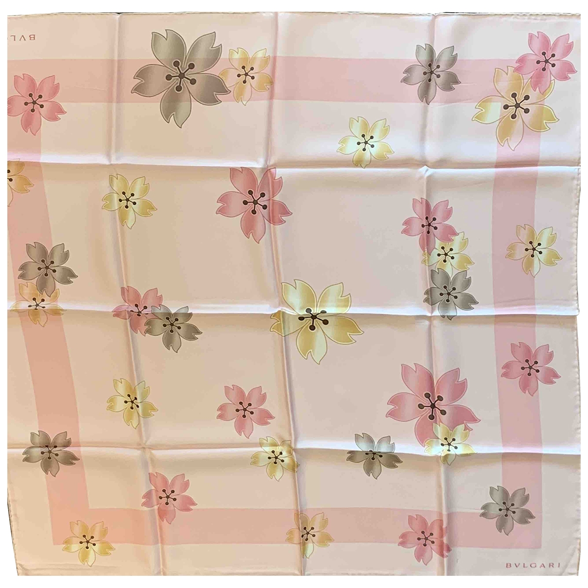 Bvlgari - Foulard   pour femme en soie - rose