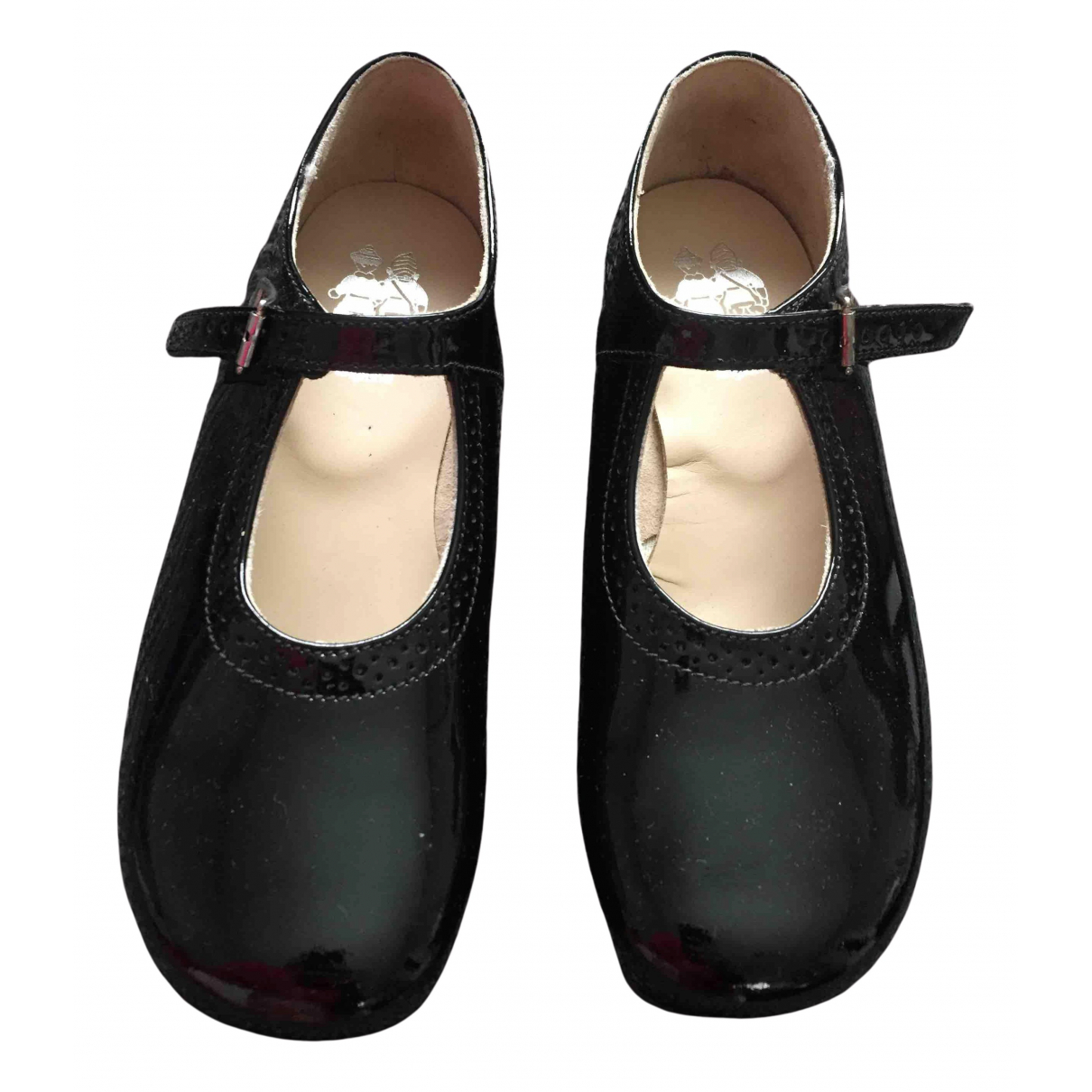 Start Rite N Black Patent leather Ballet flats for Kids 30 FR