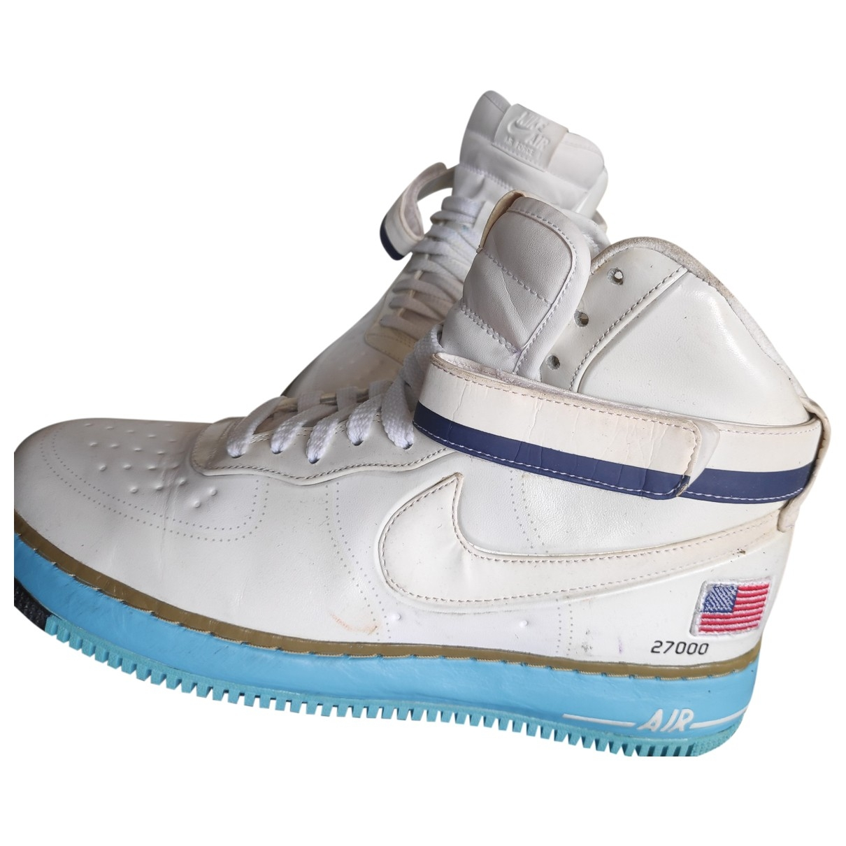 Nike Air Force 1 White Patent leather Trainers for Men 45.5 EU