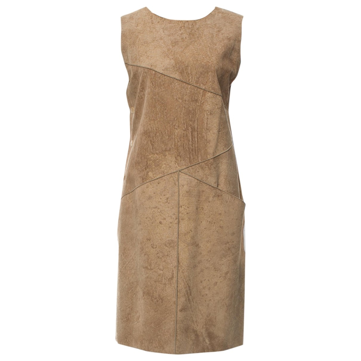 Chanel \N Kleid in  Beige Veloursleder