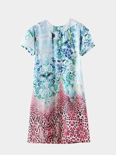 Yoins Multicolor Floral Print Mini Dress
