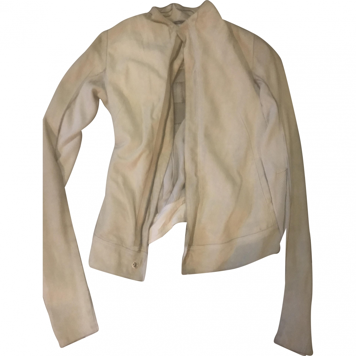 Rick Owens \N Beige Suede jacket for Women 40 IT