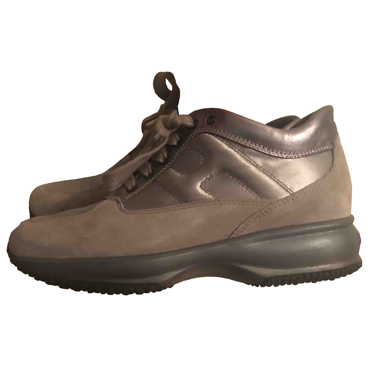 Hogan N Silver Pony-style calfskin Trainers for Women 37 IT